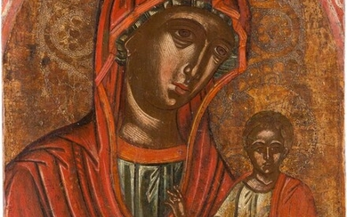 AN ICON SHOWING THE HODIGITRIA MOTHER OF GOD Greek,...