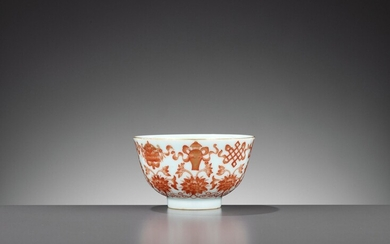 AN IRON-RED AND GILT-DECORATED 'BAJIXIANG' BOWL, DAOGUANG MARK AND PERIOD