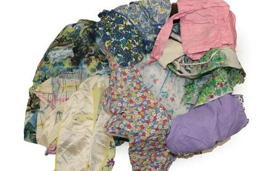 Assorted 1950 and Later Printed Cotton and Other Fabric Aprons,...