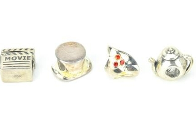 Collection 6 Assorted Sterling Silver Charms