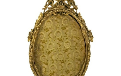 French Gilt Bronze 19C Antique Easel Picture Frame