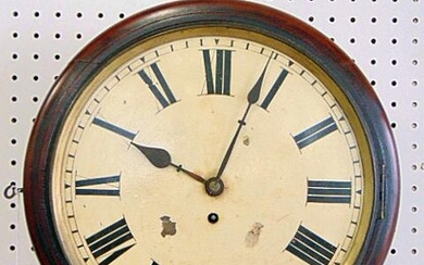 Fusee Wall Clock, Pub, Railway, 8 day Fusee- Gut Cable.