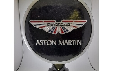 LARGE HEAVY ORNATE STEEL REPRODUCTION ASTON MARTIN ADVERTISI...