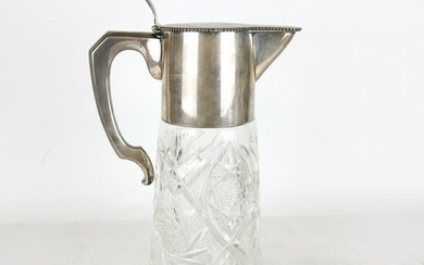 Large Continental Silver Mounted Ewer