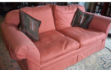 MODERN SETTEE AND ONE ARMCHAIR