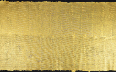 """MORITZ SOMMER. WIEN, ÖSTERREICH. """"Dream in Gold"""". Large format painting. Acrylic on canvas."""