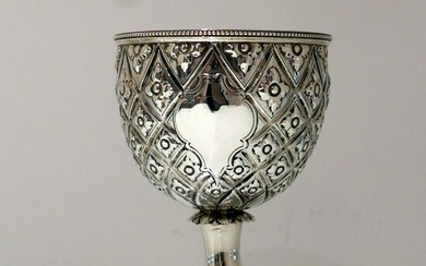Mid 19th Century Antique Victorian Sterling Silver Wine
