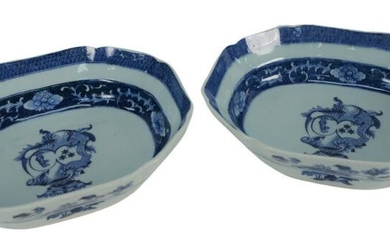 Pair of Chinese Export Porcelain Serving Bowls having