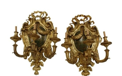 Pair of Regence Style Dore Bronze and Chinoiserie