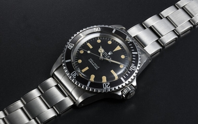 "ROLEX, STEEL SUBMARINER WITH ""INVERTED"" CASE NUMBERS, REF. 5513"