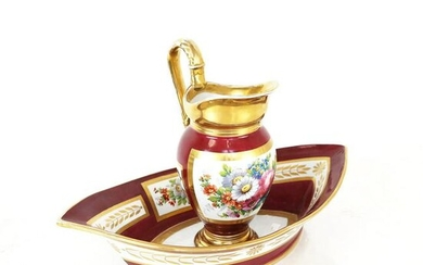 Sevres Pitcher and Basin, Circa 1805