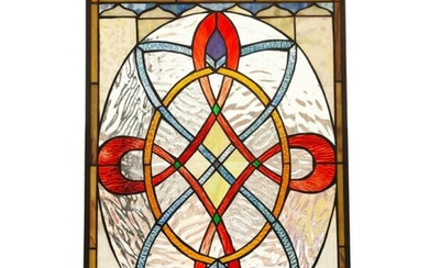 Tiffany Style Stained Art Glass Hanging Window Panel