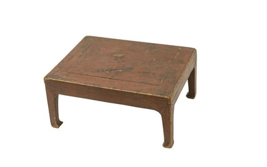 19th Century Chinese Red Kang Table