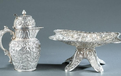 2 Baltimore repousse silver pieces, 19th c.