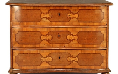 (-), 3-drawer chest of drawers with various types...