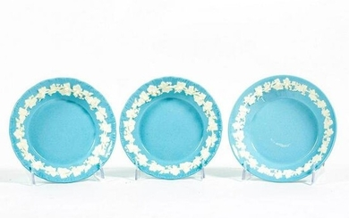 3pc Wedgwood Embossed Queensware Saucer