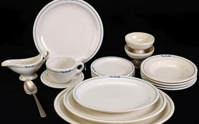 A 17-pc. SET OF D&RGW RAILWAY DINING CAR CHINA