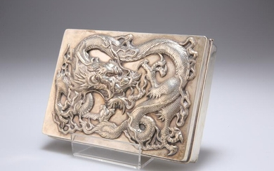 A LARGE CHINESE EXPORT SILVER CIGARETTE BOX, by