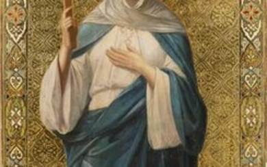 A MONUMENTAL ICON SHOWING ST. JULIA FROM A CHURCH