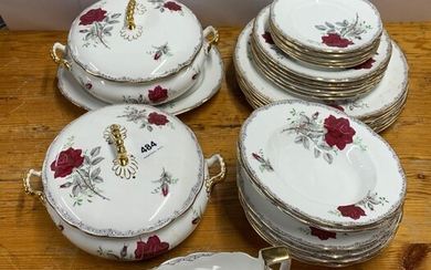 A Royal Stafford part dinner service 'Rose to Remember' pattern.