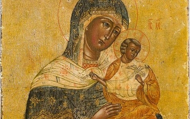 A SMALL ICON SHOWING THE MOTHER OF GOD 2nd half 20th