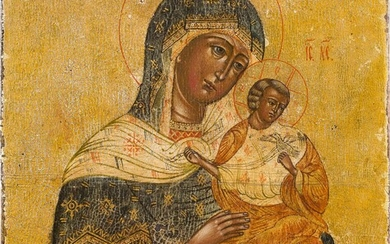 A SMALL ICON SHOWING THE MOTHER OF GOD 2nd half...