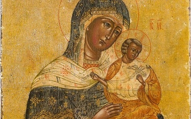 A SMALL ICON SHOWING THE MOTHER OF GOD 2nd...