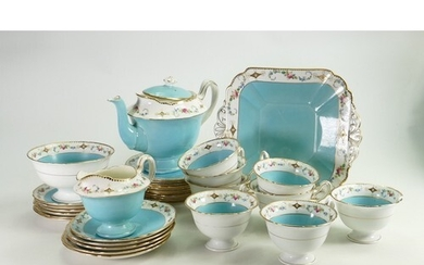 A collection of Shelley Gainsborough shape Blue Forget Me No...