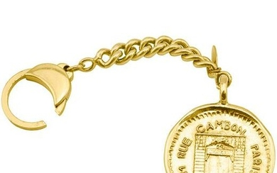 Chanel Rue Cambon Stamped Coin Keychain Circa 1984