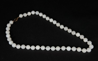Chinese Export White Color Jade Necklace