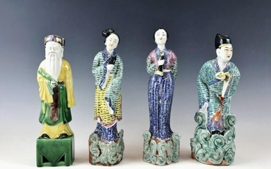 Collection, Antique Chinese Ceramic Figures, (4pc)