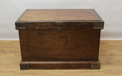 Early 20th century railway cabinet makers tool chest