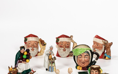 Fifteen Royal Doulton Character Jugs and Figures