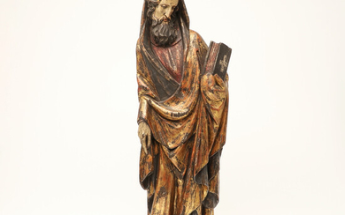 Figure / representation of a saint, wood, painted in polychrome.
