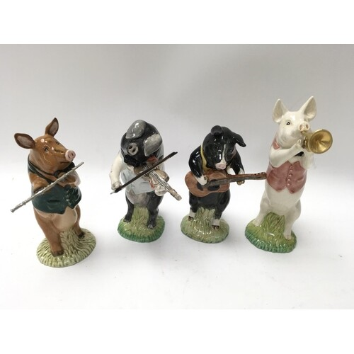 Four Beswick Pig pro musical figures all with original boxes...