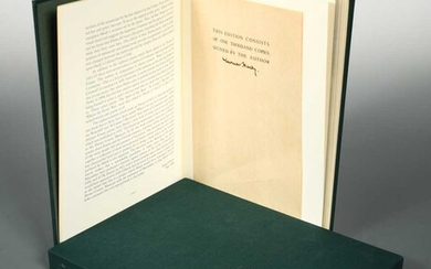 HARDY (Thomas) Moments of Love: Poems to Emma, no. 112 of a limited edition of 157 facsimile