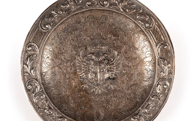 Large Spanish silver tray, 19th century