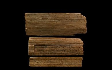 Roman Inscribed Wooden Tablet Group