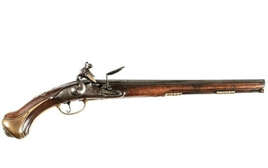 c. 1690-1710 Rare French Flintlock Holster Pistol