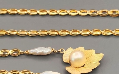 18 kt. Akoya pearl, Yellow gold - Necklace