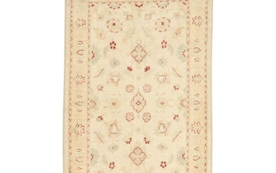 3'1 x 5'2 Hand-Knotted Afghan Turkish Oushak Rug, 2010s
