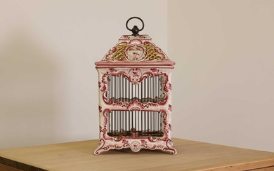 A French faience model birdcage