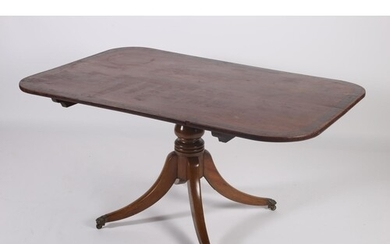 A GEORGIAN MAHOGANY AND ROSEWOOD CROSS BANDED POD TABLE the ...