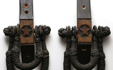 A PAIR OF SAILOR-MADE BECKETS WITH CARVED BRACKETS