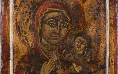 A SMALL ICON SHOWING THE HODIGITRIA MOTHER OF GOD...