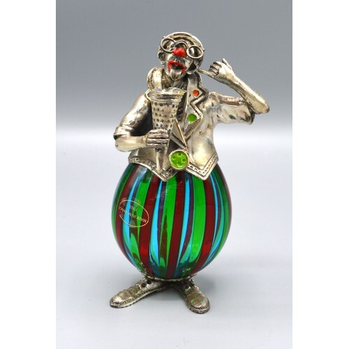 Amcini 925 Silver Mounted and Murano Glass Figure in the for...