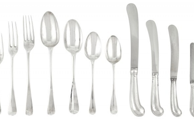 Assembled Group of George II/III Sterling Silver Flatware
