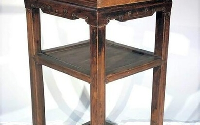 Chinese Side Table, Elm 19th C.
