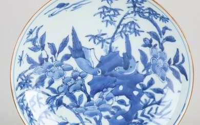 Chinese porcelain bowl with garden/bamboo/bird/insect