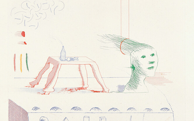 David Hockney, A Moving Still Life, from The Blue Guitar (S.A.C. 216, M.C.A.T. 195)